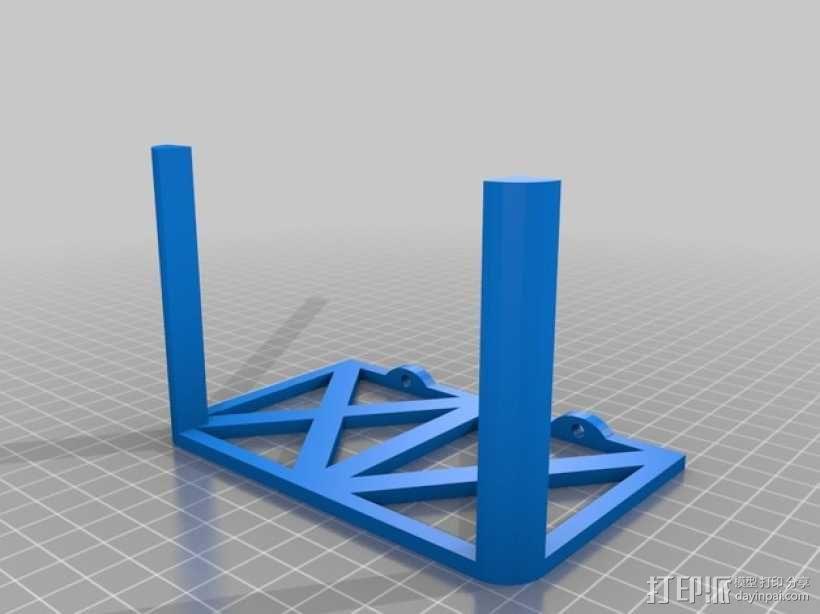 TP Link路由器支架 3D模型  图2