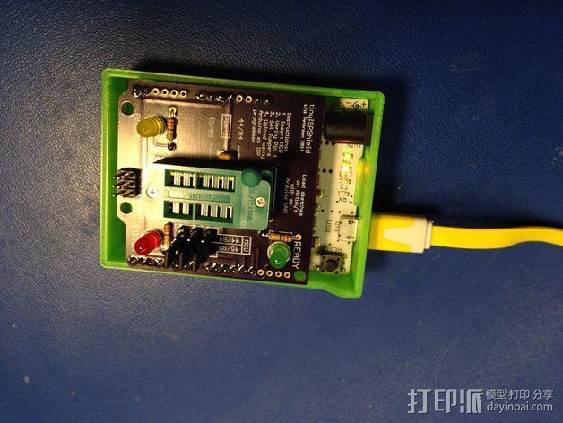 Arduino单片机板 托盘 3D模型  图7