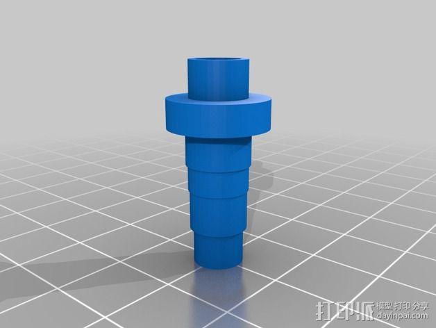 倒钩管连接器 3D模型  图1