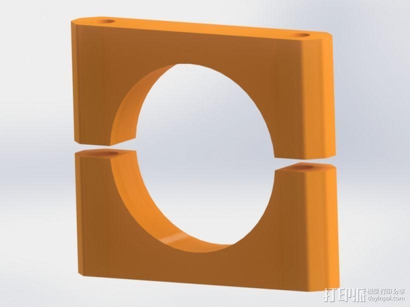 碳素纤维连接管支架 3D模型  图1