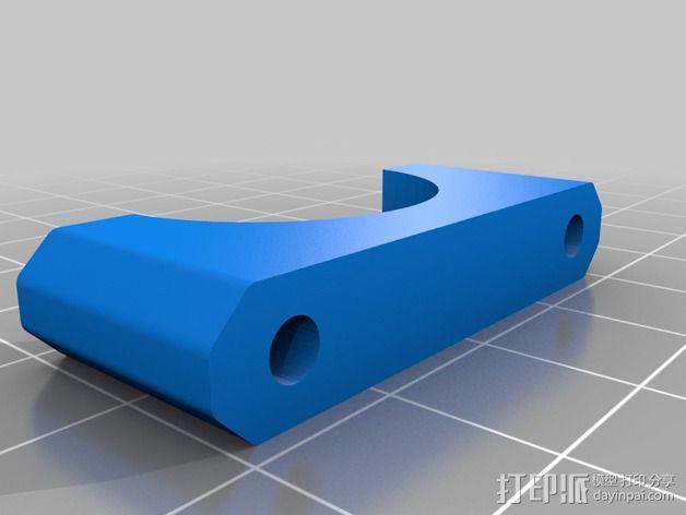 碳素纤维连接管支架 3D模型  图2