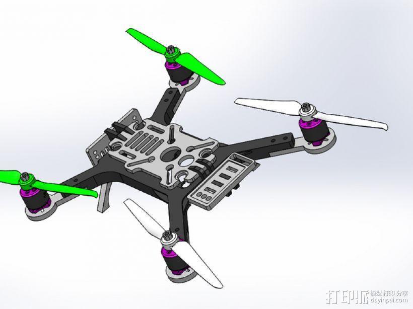 迷你180四轴飞行器 3D模型  图6