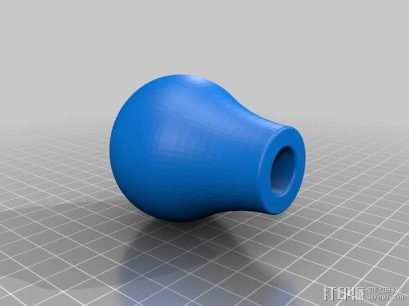 福特汽车排挡头 3D模型  图1