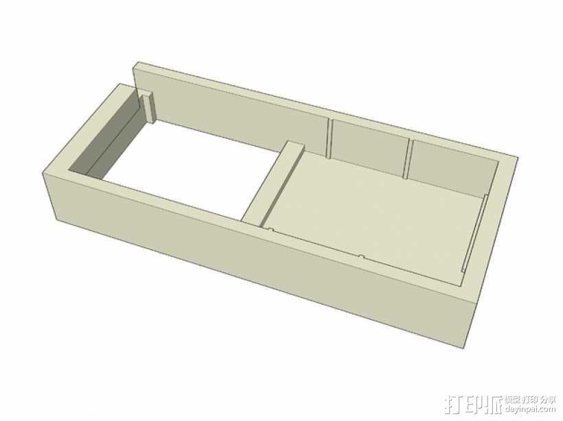 SX350芯片座 3D模型  图2