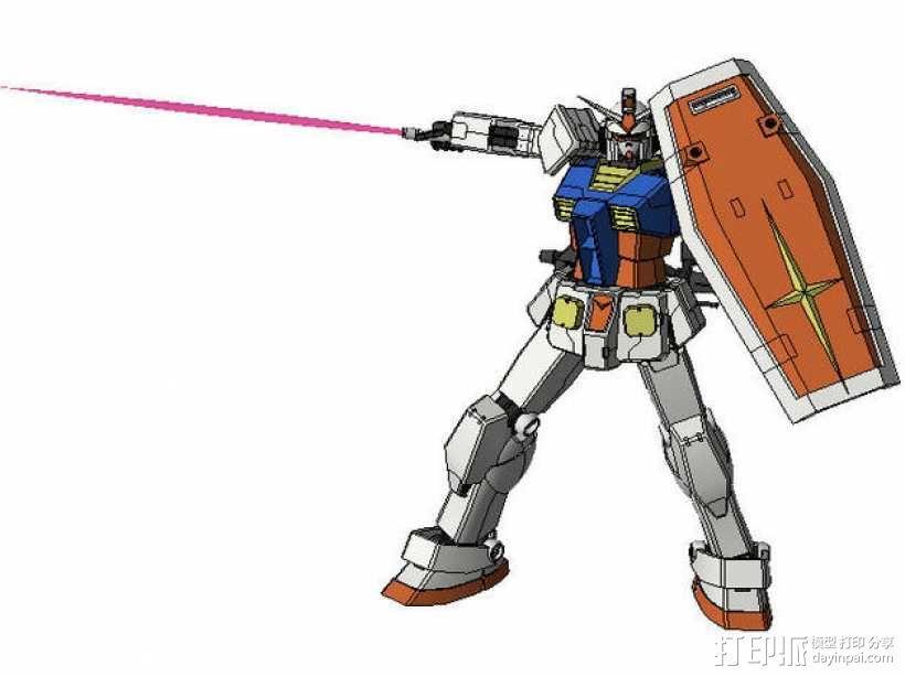 高达机器人 3D模型  图1