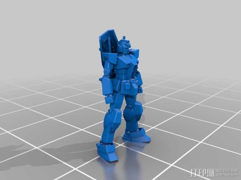 高达机器人 3D模型  图2