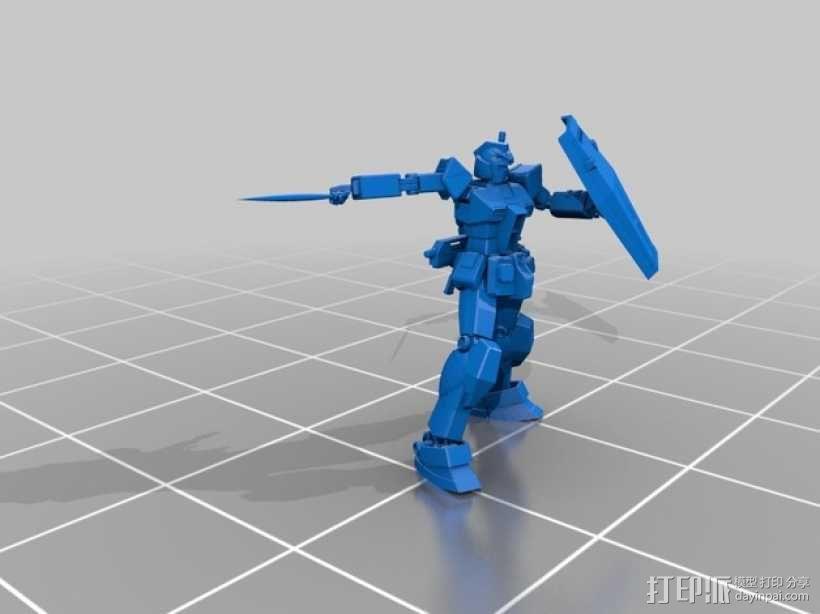 高达机器人 3D模型  图3