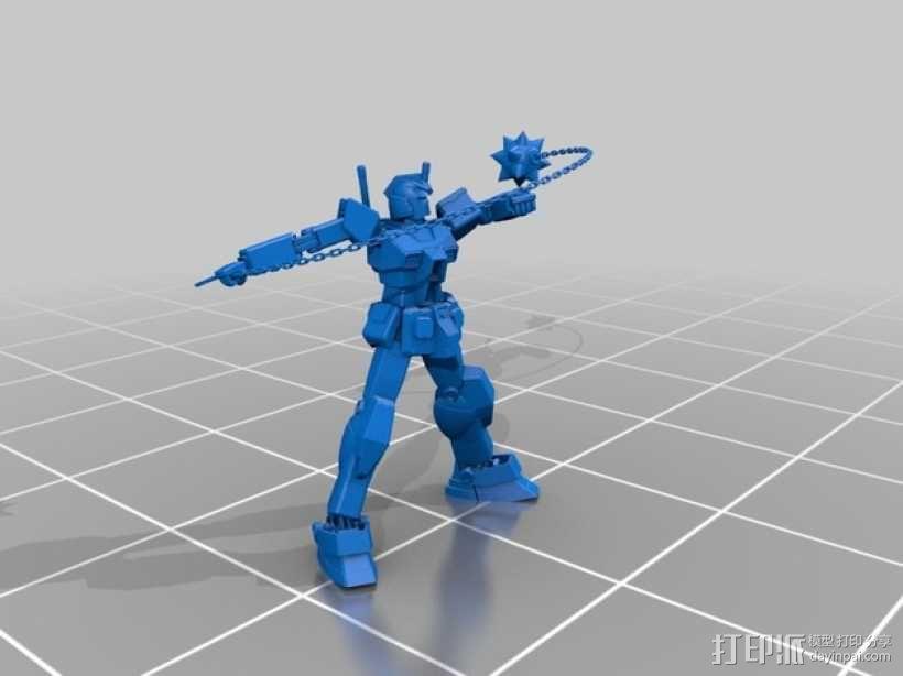高达机器人 3D模型  图4