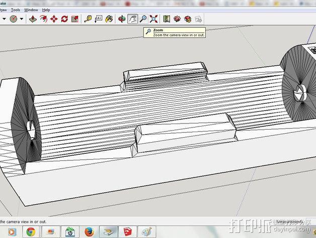 26650 18650电池夹 3D模型  图3