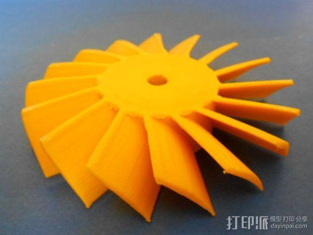 轴流式涡轮 3D模型  图1