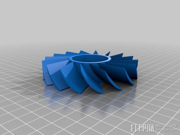 轴流式涡轮 3D模型  图2