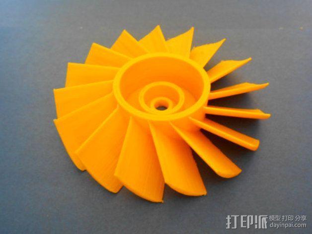 轴流式涡轮 3D模型  图3