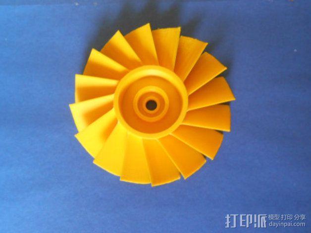 轴流式涡轮 3D模型  图4