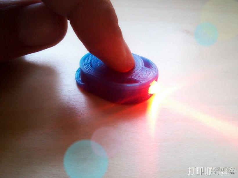 迷你手电筒 3D模型  图1