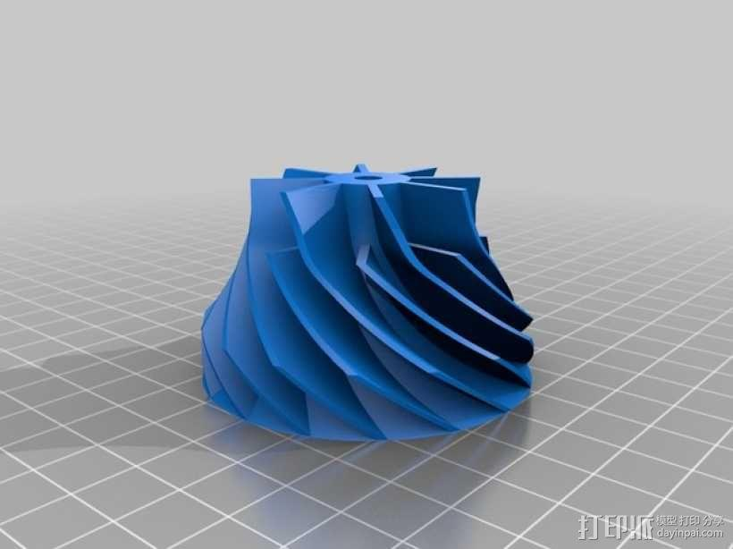 涡轮增压器 3D模型  图4