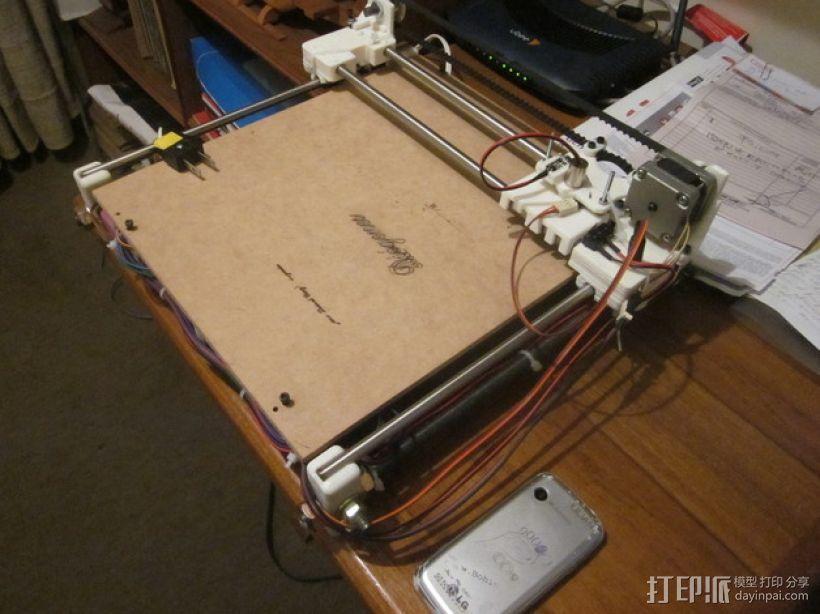 激光雕刻机  3D模型  图1