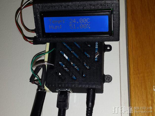 Arduino Ethernet电路板外壳 3D模型  图2