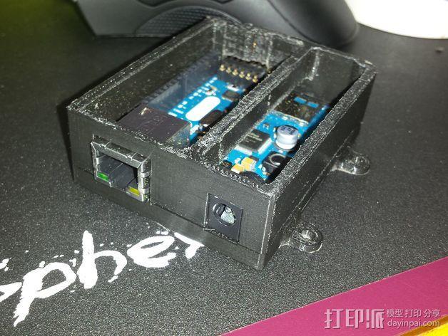 Arduino Ethernet电路板外壳 3D模型  图3