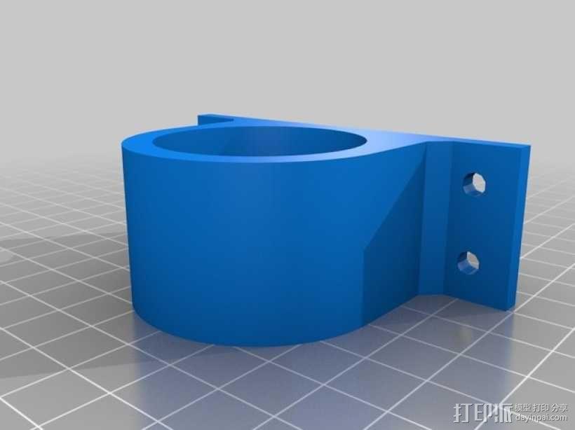 Pololu 37D齿轮降速马达 支架 3D模型  图2