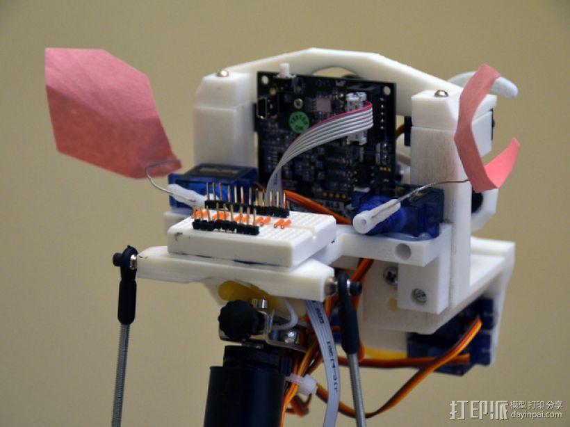简易机器人头部 3D模型  图2