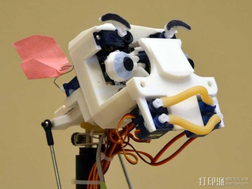 简易机器人头部 3D模型  图1