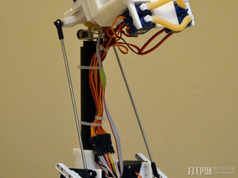 简易机器人头部 3D模型  图4