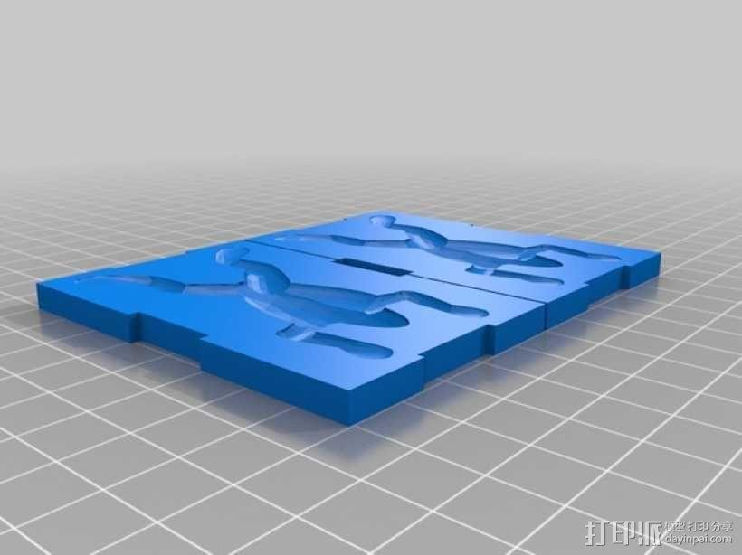 青蛙钓鱼鱼饵模板 3D模型  图1