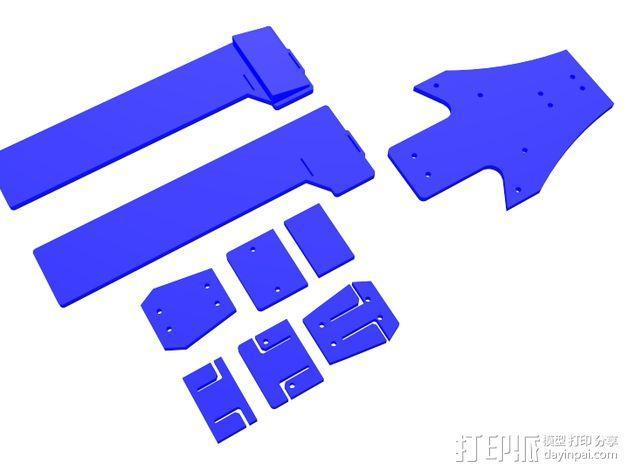 三轴飞行器组件 3D模型  图14