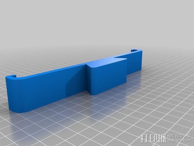 Dji Phantom的ipad夹持架 3D模型  图2