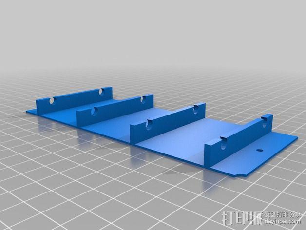 蓝色led立方垂直夹具 3D模型  图2