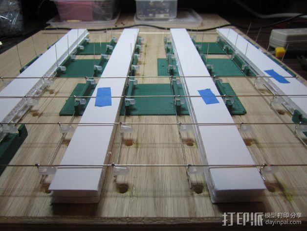 蓝色led立方垂直夹具 3D模型  图3