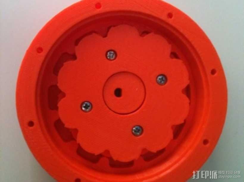 圆内螺线 变速箱 3D模型  图1