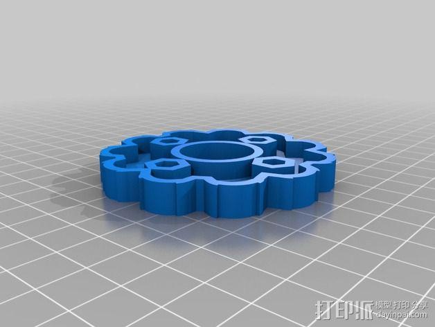圆内螺线 变速箱 3D模型  图2