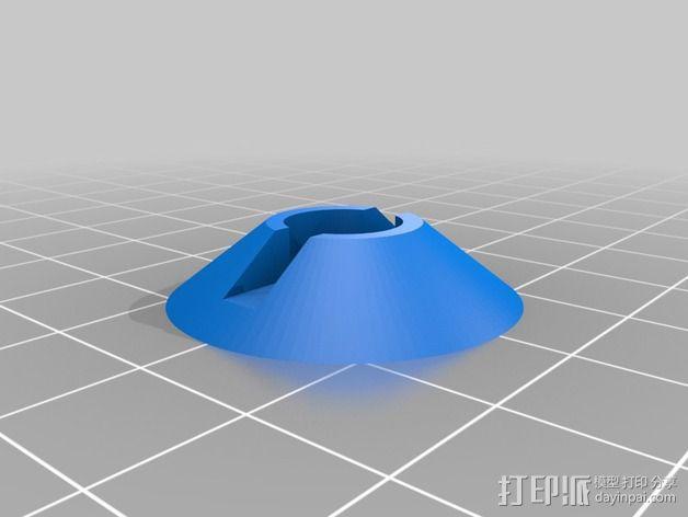 旋转开关 3D模型  图3