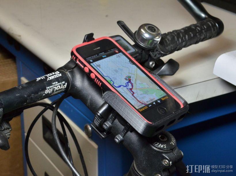 iPhone 自行车固定槽 3D模型  图1