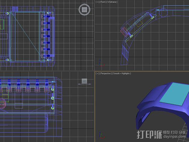 IPSC计时器 外壳 3D模型  图13