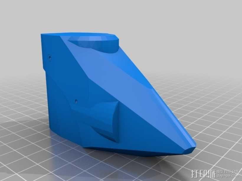 NanoCPX遥控飞机 飞机座舱罩 3D模型  图2