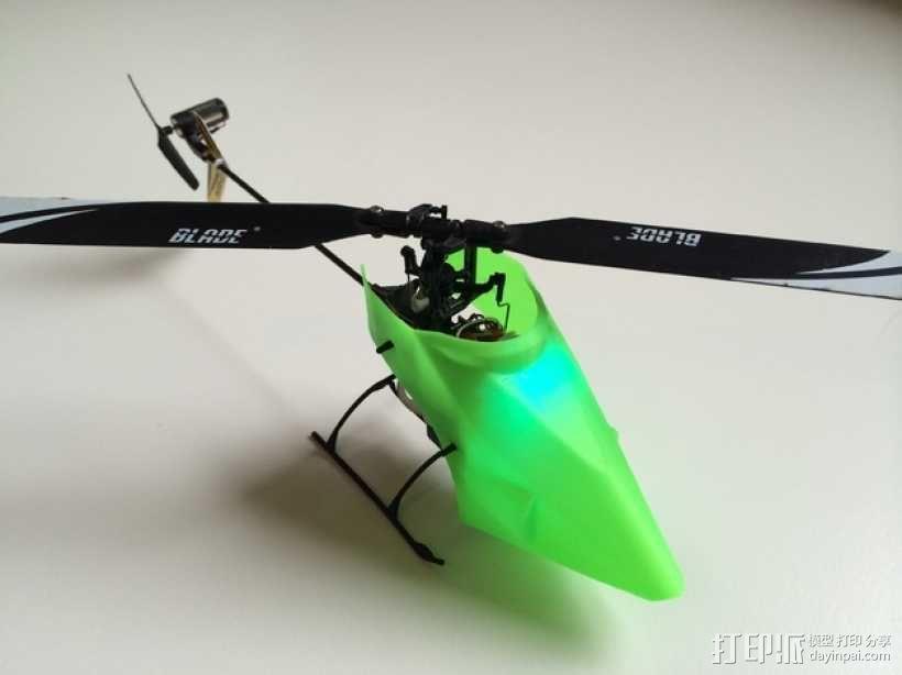 NanoCPX遥控飞机 飞机座舱罩 3D模型  图1