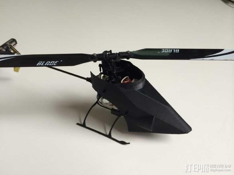 NanoCPX遥控飞机 飞机座舱罩 3D模型  图4