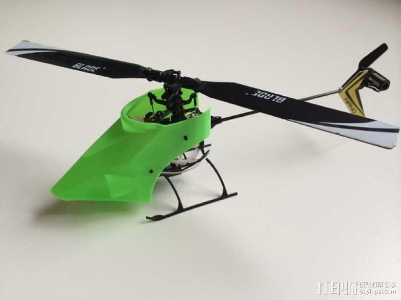 NanoCPX遥控飞机 飞机座舱罩 3D模型  图5