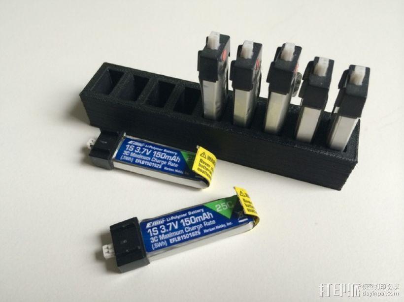 LiPo电池夹 3D模型  图1