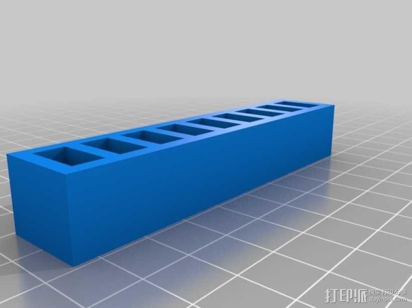 LiPo电池夹 3D模型  图2