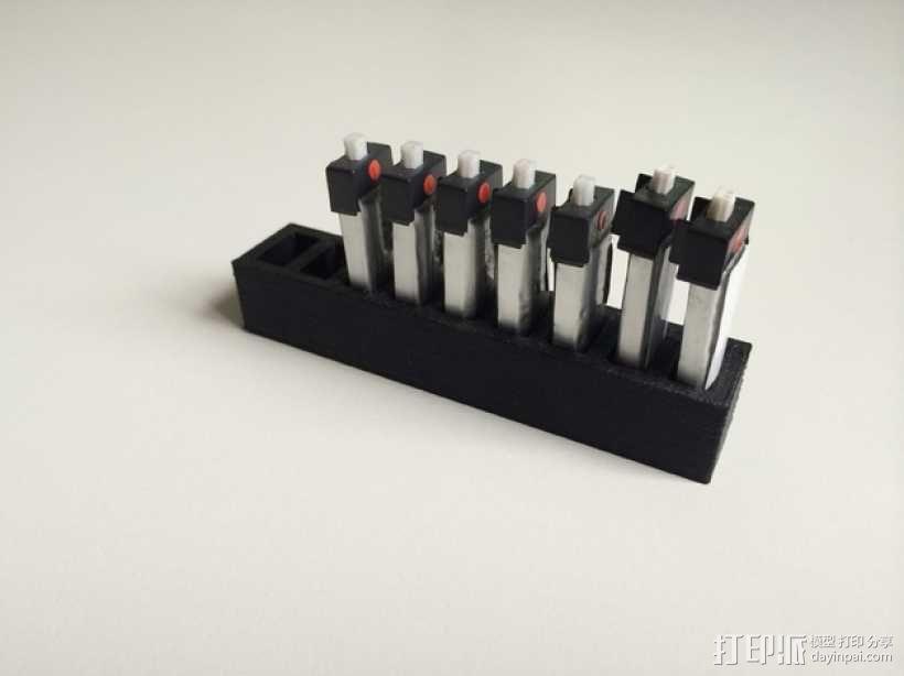LiPo电池夹 3D模型  图3