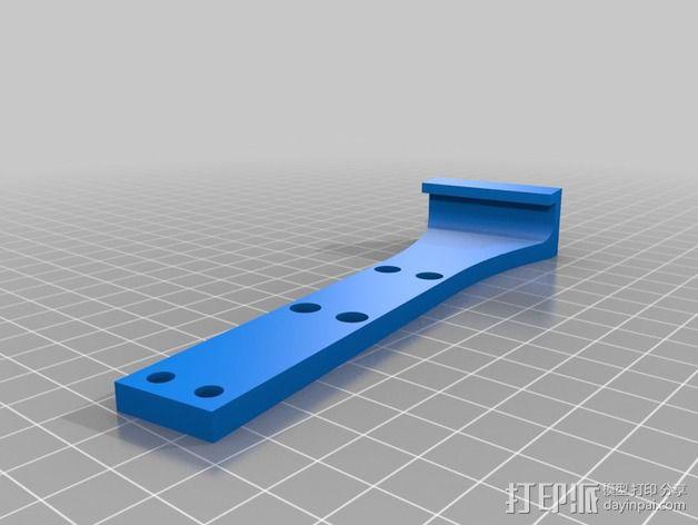 Turnigy 9XR要飞机遥控器 支架 3D模型  图3