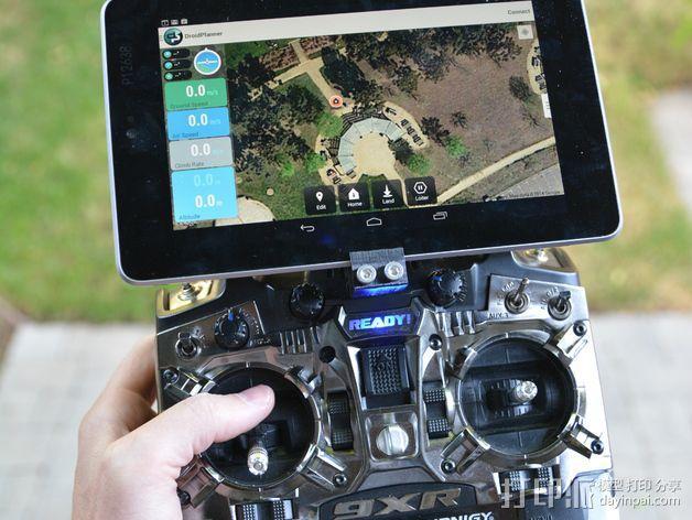 Turnigy 9XR要飞机遥控器 支架 3D模型  图5