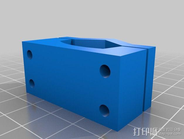 Turnigy 9XR要飞机遥控器 支架 3D模型  图4