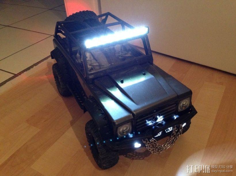 攀爬遥控车LED光条 3D模型  图3