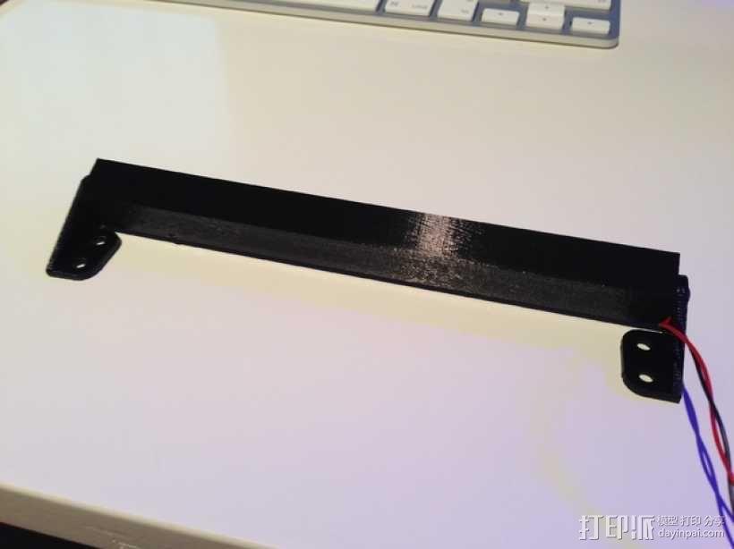 攀爬遥控车LED光条 3D模型  图7