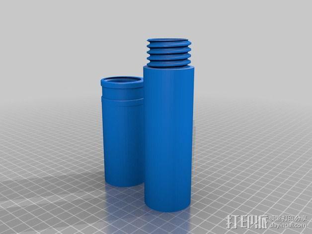 雪茄烟管螺旋盖  3D模型  图4