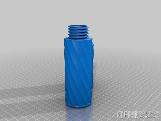 雪茄烟管螺旋盖  3D模型  图5